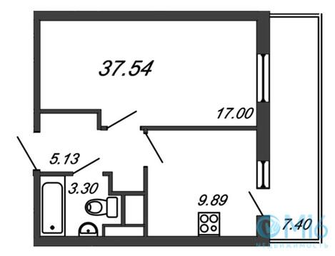 Продажа 1-комнатной квартиры, 37.54 м2, Воронцовский б-р - Фото 2