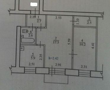 Продам 2-к квартиру, Благовещенск город, улица Чайковского 197