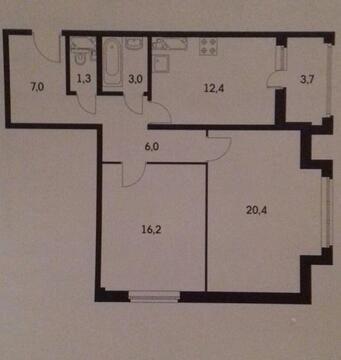 Продажа Видовой Двухкомнатной Квартиры в сданном доме. - Фото 3