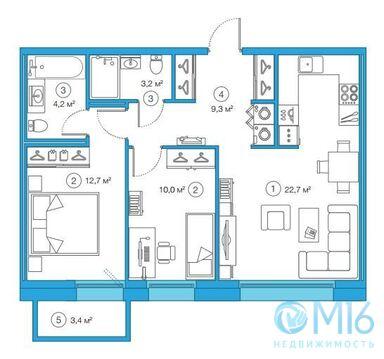 Продажа 2-комнатной квартиры, 62.06 м2 - Фото 2