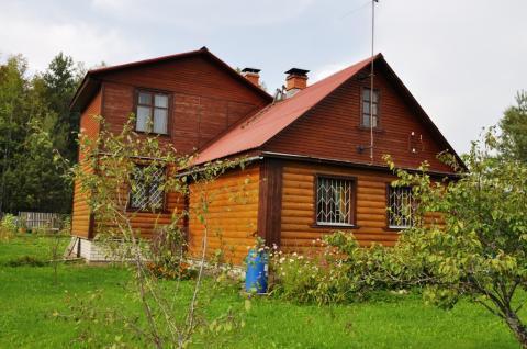 Дом с баней в деревне у озера, участок 19 соток для ИЖС, д.Бабурино - Фото 1