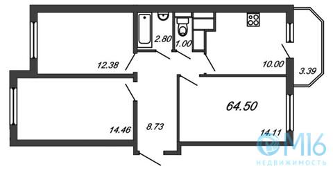 Продажа 3-комнатной квартиры, 64.5 м2, Воронцовский б-р - Фото 2
