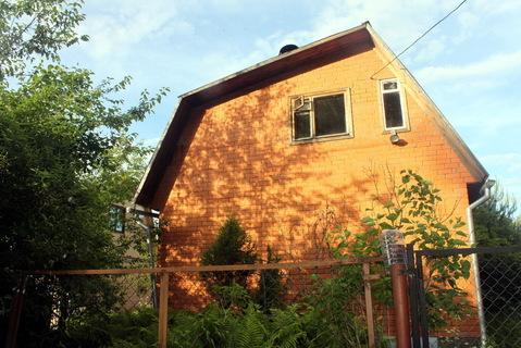 Дача у леса в Пыхчево. Теплый дом из бруса обложен кирпичом - Фото 1