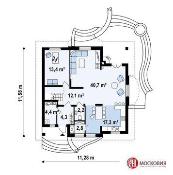Отличный проект дома площадью 187м2 на 20 сотках земли в Новой Москве - Фото 3