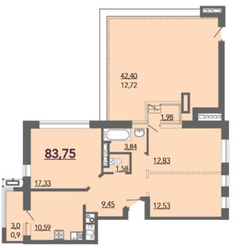 ЖК Kalinina House продается четырехкомнатная квартира Калинина 32 - Фото 4