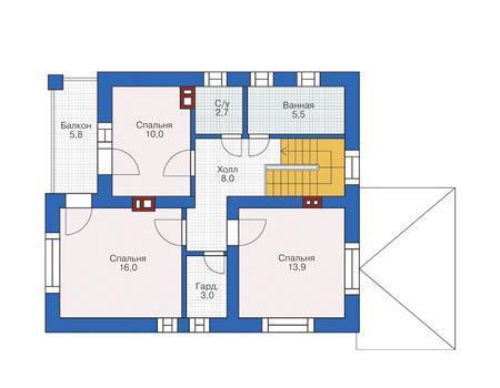 Дом 122 кв.м на уч.12.5 сот.в котеджном поселке Калужское шоссе 49 км. - Фото 3