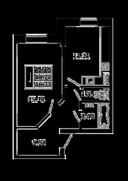 1-комнатная квартира 40,77 кв. м. в ЖК Никольский посад