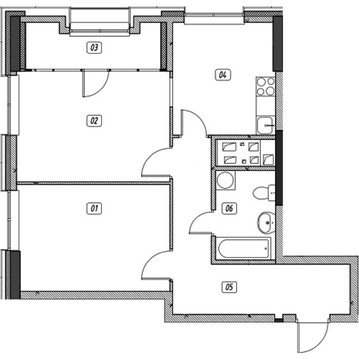 Продам 2-комн. квартиру, 63.36 кв.м. - Фото 1
