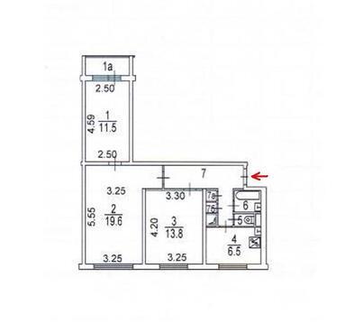 2 комнаты в 3к кв в Бибирево - Фото 3