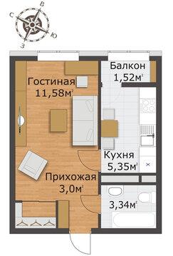 """Продам 1 кв в дп, ЖК """"Северный"""". Срочно! - Фото 2"""