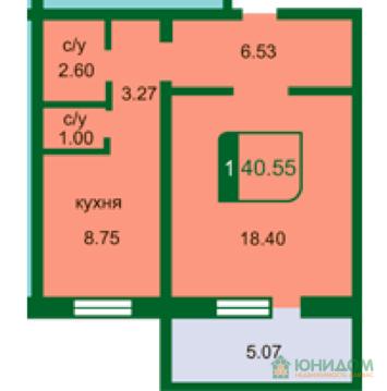 1 комнатная квартира в новом доме с ремонтом, ул. Маршака, Тарманы - Фото 2