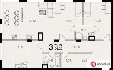 3 комнатная квартира 106 кв.м. с участком 200 кв.м, ремонт под ключ - Фото 2