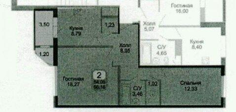 2 комнатная квартира в новостройке г.Подольск, ул.Колхозная д.20. 8/16 - Фото 1