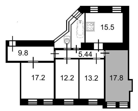 Продажа комнаты, м. Чкаловская, Ул. Красносельская - Фото 1