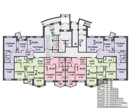 Двухкомнатная квартира 64 кв.м в ЖК Гусарская баллада - Фото 4
