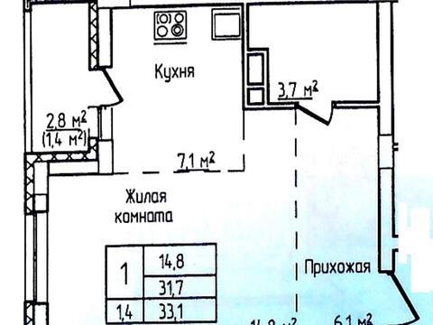Продается однокомнатная квартира по ул Горького 44 - Фото 2