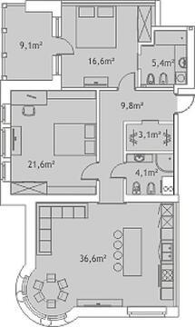 25 665 487 руб., Продажа квартиры, Купить квартиру Рига, Латвия по недорогой цене, ID объекта - 313139294 - Фото 1