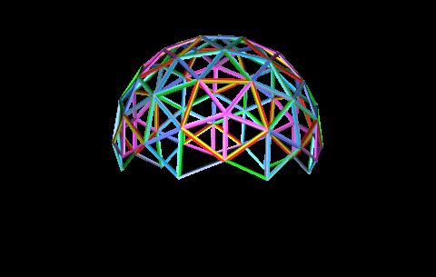 Купольный дом - каркас - Фото 1