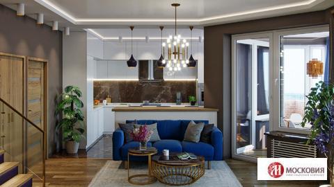 Двухуровневая квартира с террасой 111,7 кв.м, мкр Солнечный, г. Троицк - Фото 1