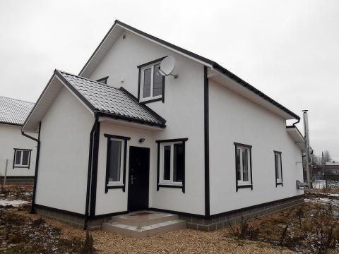 Новый загородный дом, д.Рязанцево,85 км от МКАД по Киевскому, Калужско - Фото 2