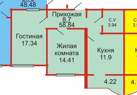 2-х комнатная с евроремонтом в новом доме - Фото 1