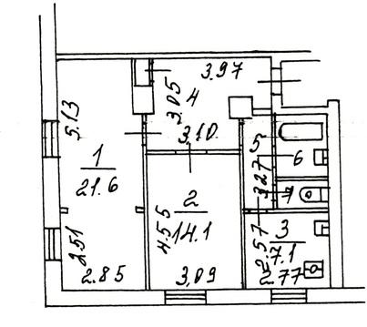 Продажа 2 комн. квартиры 65 кв.м. вднх ул. Вильгельма Пика, 4а - Фото 3