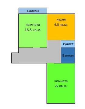 2-комнатная квартира - распашонка - Фото 5