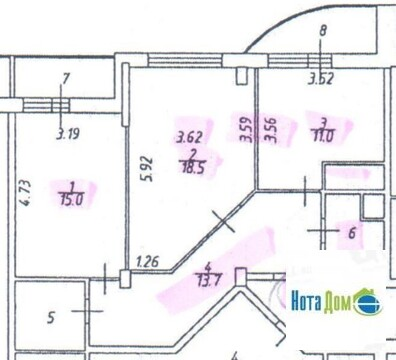 Продаётся 2-комнатная квартира по адресу квартал Южный 5 - Фото 3