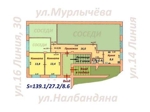 2 комнаты в коммунальной квартире - Фото 1