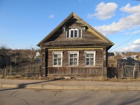 Деревянный дом и участок 6,5 сот в д.Бор Кировского р-на (85км от спб) - Фото 1