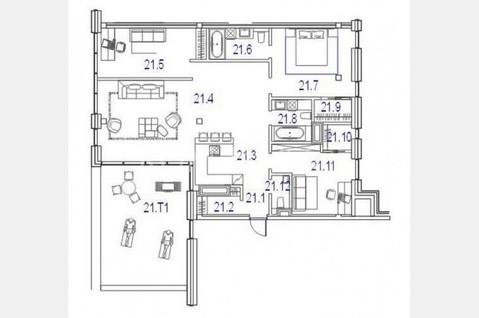 4-комнатная квартира в Балтэзерсе - Фото 4