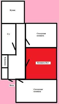 Комната, расположенная по адресу г.Уфа, ул.Кремлевская 44 - Фото 1