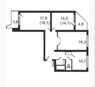 Продаётся 3х комнатная квартира в г. Москва Ул. Лётчика Грицевца - Фото 2