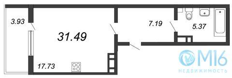 Продажа квартиры-студии, 31.49 м2 - Фото 2