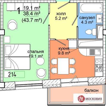 Продажа 1- комнатных апартаментов в 4 км МКАД, г. Видное - Фото 2