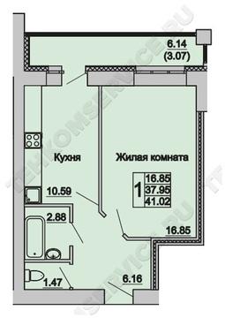 Продажа 1-комнатной квартиры, 41 м2, г Киров, Маклина, д. 60а, к. . - Фото 3