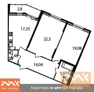 Продажа квартиры, м. Василеостровская, Реки Смоленки наб. - Фото 1