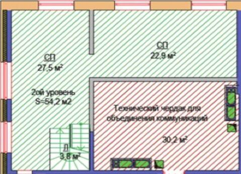 2-х уровневый пентхаус на 43/44 этаже в ЖК Арт - Фото 2