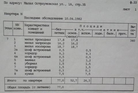 Продажа квартиры, м. Сокольники, Ул. Остроумовская М. - Фото 3