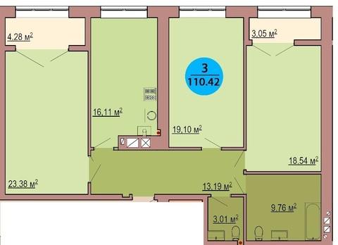 Трёхкомнатная квартира в Центральном районе - Фото 2