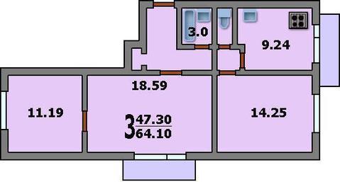 3-комнатная квартира в Бибирево - Фото 3