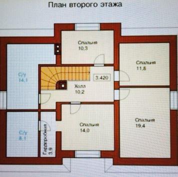 2-этажный коттедж 250 м2 (красный кирпич) на участке 15 сот. - Фото 4