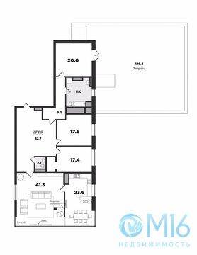 Единственная видовая трехкомнатная квартира с террасой в ЖК - Фото 2