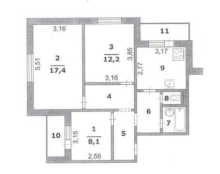 Обменяю 3-комн.квартиру, 3 Интернационала ул 46, корп.а, 9/10, площадь: . - Фото 3
