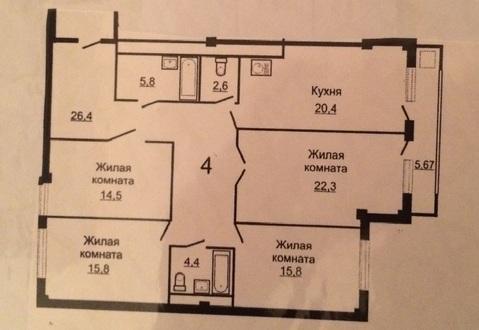 Александровский парк. 3-х комн. 120кв.м. 9/16 эт. 5800 тыс.руб - Фото 3