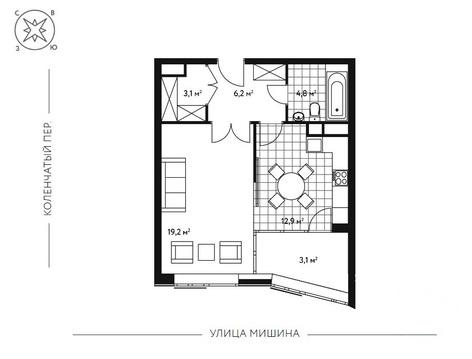 1-комн. квартира 49,3 кв.м. в новом 7-ми этажном доме САО г. Москвы - Фото 4