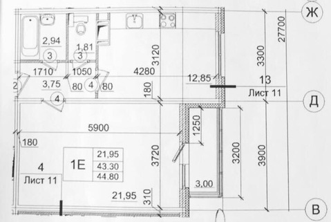 Продается 1 к.кв. 43 кв.м. в ЖК Янинский каскад-4 на 7 этаже в Янино-1 - Фото 4