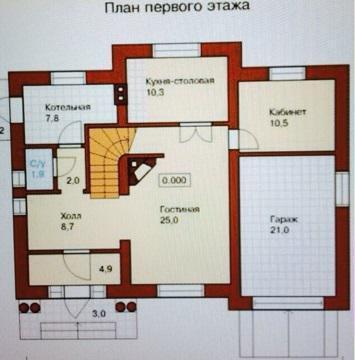 2-этажный коттедж 250 м2 (красный кирпич) на участке 15 сот. - Фото 3