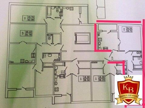 Продам 2-х комн.квартиру. 59,7 кв.м с А/о ул.Карташева, 48. Подрядчик - Фото 1