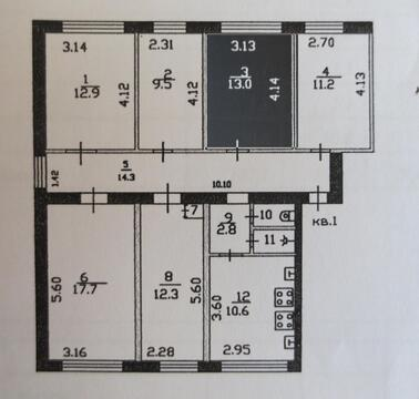 Продам комнату в центре г. Серпухов ул. Центральная д. 179 4/5 - Фото 2